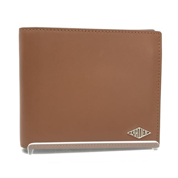 美品 Cartier カルティエ 二つ折り 財布 札入れ カードケース ブラウン 茶色 キャメル メンズ 紳士雑貨 ブランド 管理RY19002392