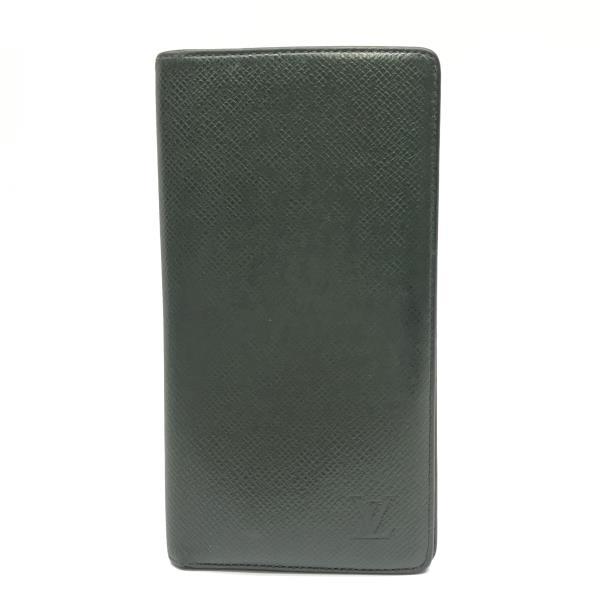 LOUIS VUITTON ルイヴィトン M30394 ポルトバルール カルトクレディ タイガ エピセア メンズ 長財布 二つ折り 札入れ 緑系 管理YK19003404