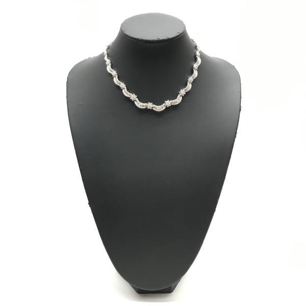 18 inch Diamond Scotch 0.17 Dancing Cubic Zirconia Love Script Heart Pendant Necklace in 14k White Gold Over