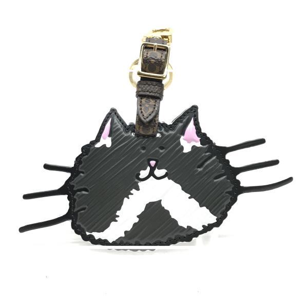 美品 LOUISVUITTON ルイヴィトン MP2282 ポルト アドレス キャットグラム バッグチャーム キーホルダー 猫 ネコ ねこ 管理RY19004449