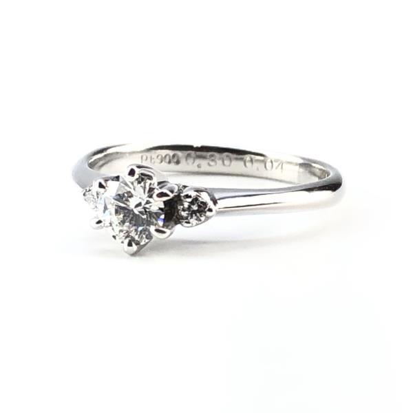 ダイヤモンドリング 指輪 pt900 プラチナ 約9号 D0.3ct MD0.04ct アクセサリー ジュエリー エンゲージリング 婚約 結婚 管理RY19004590