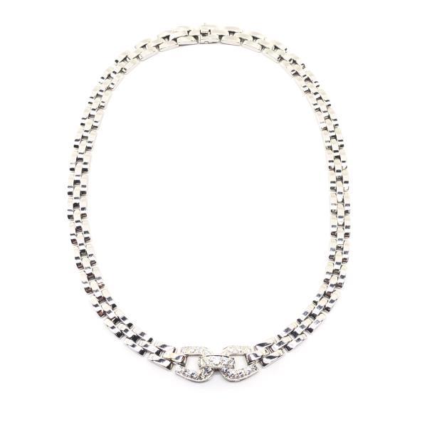 Cartier カルティエ パンテール エトリエールネックレス ダイヤモンド K18WG 87.2g ジュエリー アクセサリー 婦人 管理RY20000648