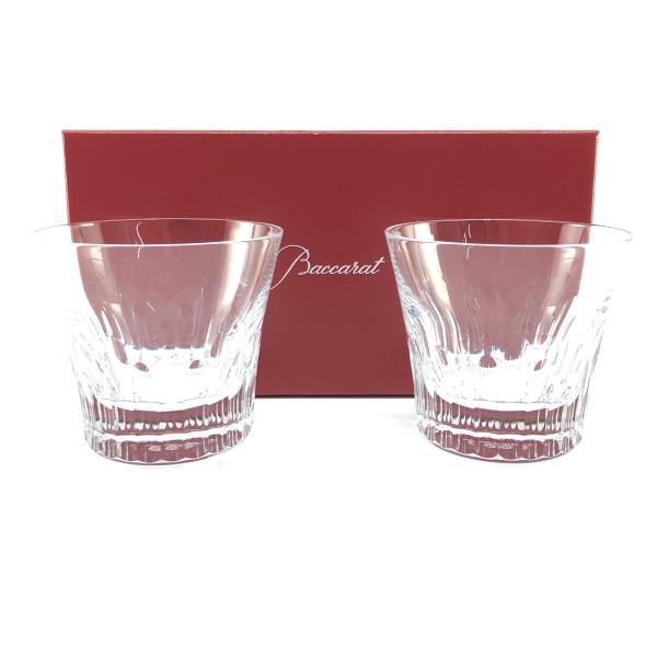 未使用 BACCARAT バカラ ペアロックグラス 2個入り フィオラ ガラス製品 食器 透明 キッチン ブランド ギフト プレゼント 管理RY20000634