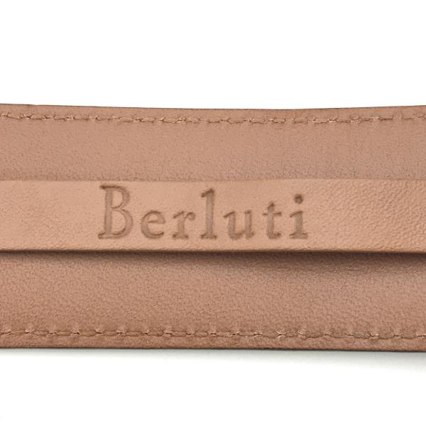美品 Berluti ベルルッティ L0135 カリグラフィ メンズ レザーベルト ブラウン 5穴 サイズ90 36 服飾雑貨lKJT1cF
