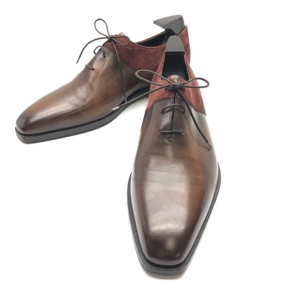 Berluti ベルルッティ ドレスシューズ サイズ27cm スエードレザー 靴 ビジネス 仕事用 メンズ ブラウン 茶色 ブランド 管理RY20001035