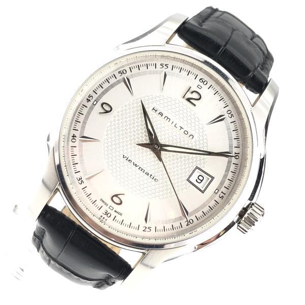 HAMILTON ハミルトン H325150 オートマチック 腕時計 白文字盤 ジャズマスター ビューマチック 裏スケルトン メンズ 管理RY20001105