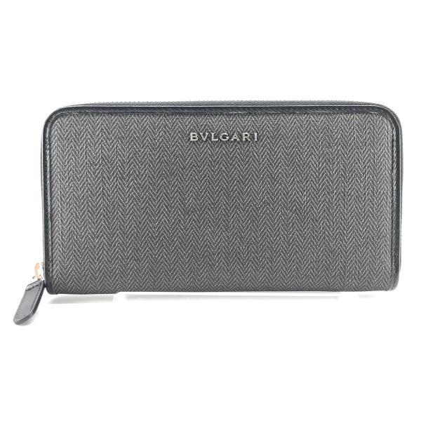 未使用 BVLGARI ブルガリ ウィークエンド 長財布 ラウンドファスナー 32587 小銭 コイン カードケース メンズ ブランド 管理RY20001175