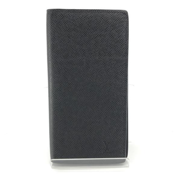 美品 LOUIS VUITTON ルイヴィトン M33402 ポルトフォイユ・ロン タイガ アルドワーズ メンズ 長財布 レザー 黒 二つ折り 管理YK20001262