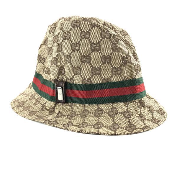 GUCCI グッチ GGキャンバス ハット 帽子 シェリー Lサイズ ベージュ メンズ レディース ブランド 衣類 ヘアアクセサリー 管理RY20001301