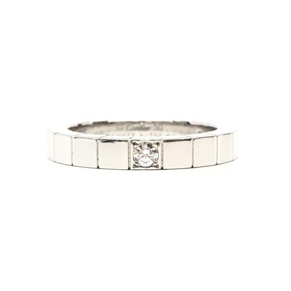 Cartier カルティエ ラニエール ダイヤリング 9.5号 K18WG ホワイトゴールド アクセサリー ジュエリー 箱 ギャラ ブランド 管理RY20001716