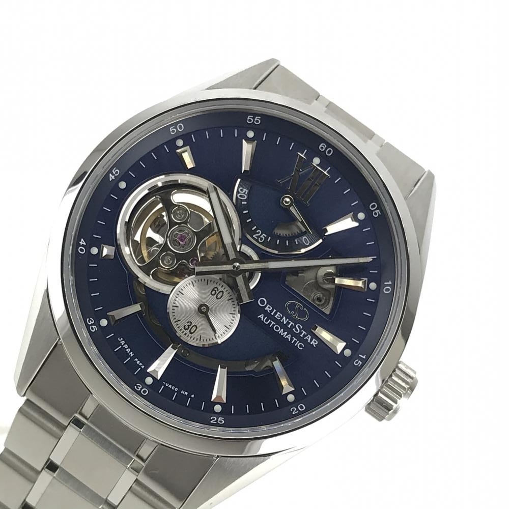 ORIENT STAR オリエントスター RK-AV0004L モダンスケルトン メンズ 腕時計 自動巻き 青文字盤 スモールセコンド 4針 ステン管理YK18339