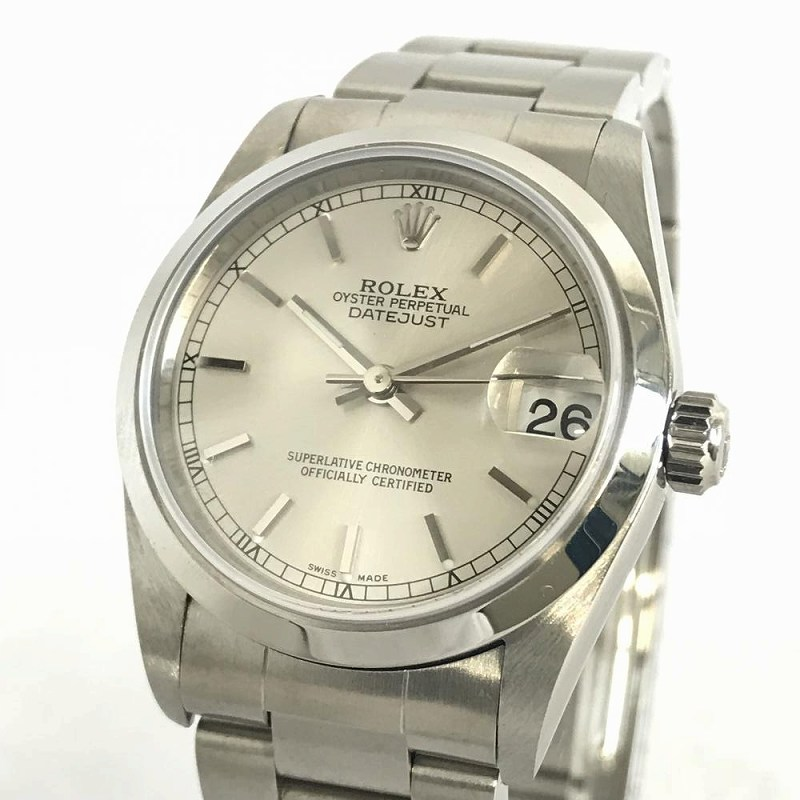 ROLEX/ロレックス 78240 オイスターパーペチュアルデイトジャスト ボーイズ 腕時計 自動巻き 稼働品 磨き済みSS Y番 ギャラあり管理YO1985