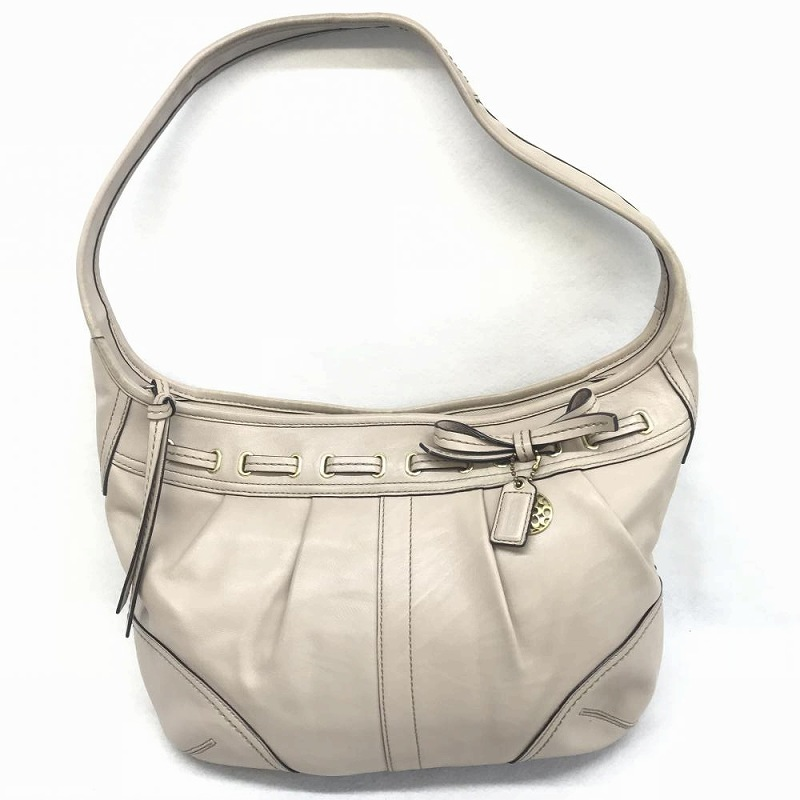9df09520e0 Kanteikyoku Nagoyanishiki: Coach COACH/ 12728 one shoulder bag handbag  beige leather used lady's management EM | Rakuten Global Market