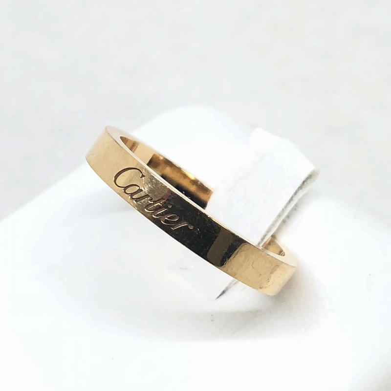Cartier カルティエ エングレーブドリング 12.5号 53 K18PG ピンクゴールド ブランドジュエリー リング 指輪 管理RM