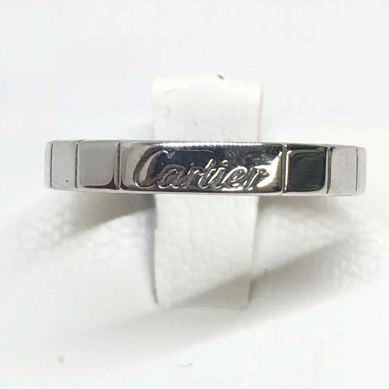 CARTIER カルティエ Cartier ラニエールリング WG 750 K18WG ホワイトゴールド 指輪 7号 リング ブランドジュエリー 管理RM