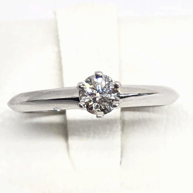 TIFFANY&Co. ティファニー ソリテール ダイヤモンド リング D0.23ct PT950 6.5号 指輪 プラチナ レディース 管理RM1453