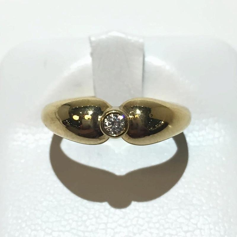Tiffany ティファニー アンティークリング K18 750 イエローゴールド ダイヤモンド 10号 3.8g 中古指輪 ジュエリーバイザヤード 管理YI2375