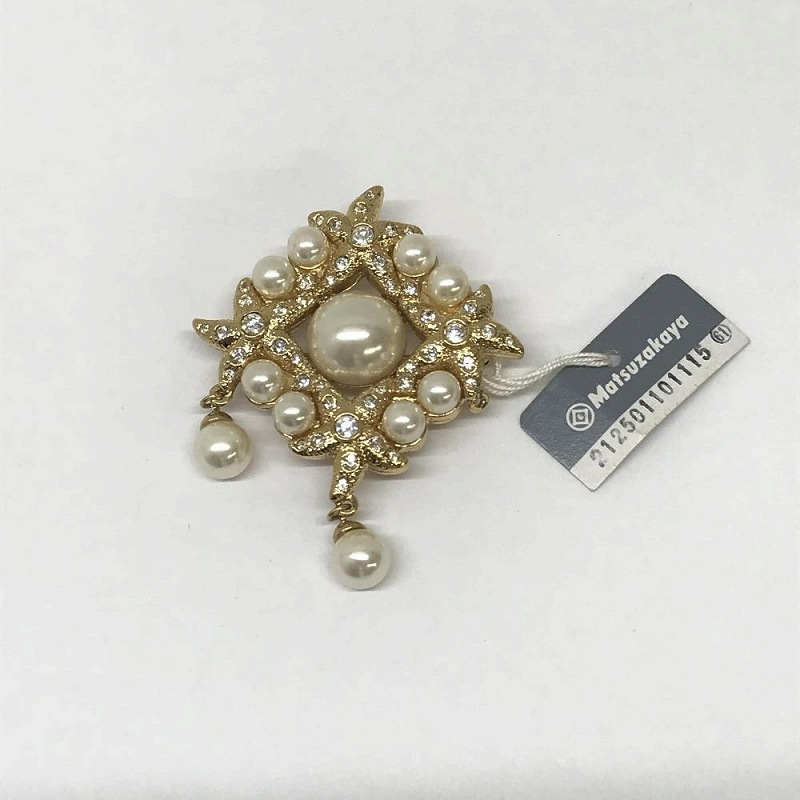 Get a Nina Ricci NINA RICCI/ vintage broach Matsuzakaya purchase imitation  pearl broach-free pearl