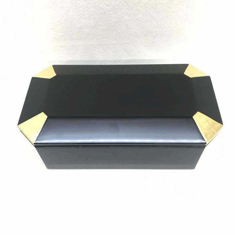 山田平安堂 漆器 うるし/長手重 和食器 容器 隅金 高級 未使用 中古 管理EM10481