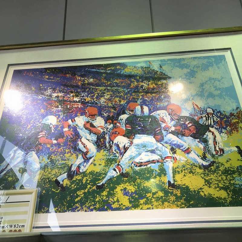 絵画 マーキング フットボール ED73/350 サイズ H55cm W82cm 中古 管理0068