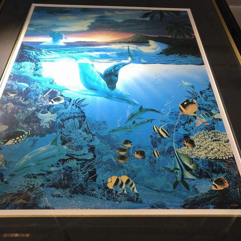 絵画 ドーン・オブ・クリエイション 画家 C.LASSEN 技法 ミクスドメディア ED 180/225 サイズ H 95 W 79 中古 管理HS1379