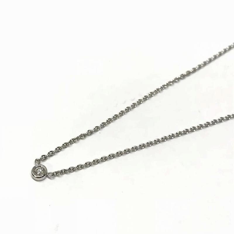 Christian Dior クリスチャンディオール ミミウィ ダイヤ ネックレス K18WG ホワイトゴールド 長さ約40.5cm レディース 中古 管理HS1431