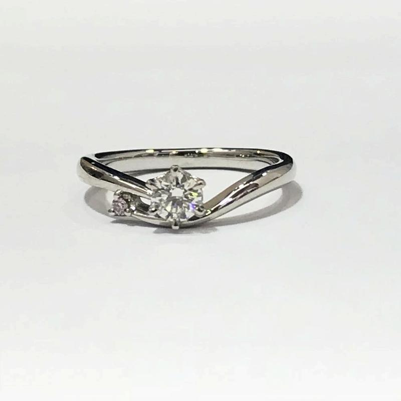 PT950 プラチナ/ ダイヤモンドリング 指輪 9号 D0.264ct 3.6g 中古 美品 管理EM2240