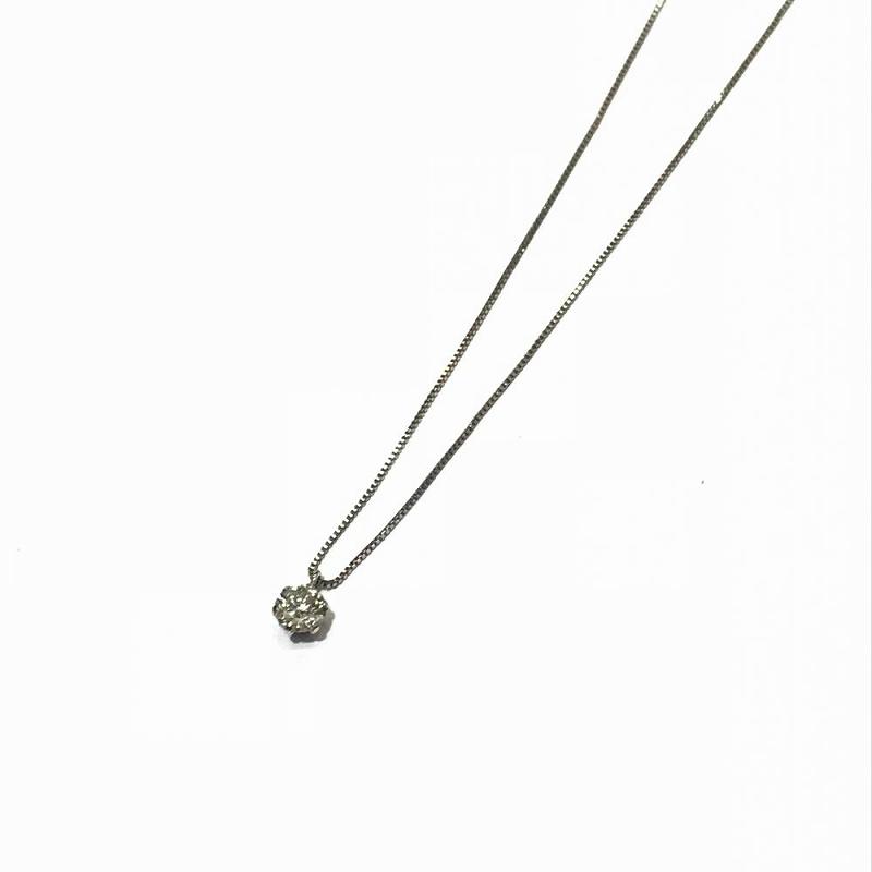 PT850 プラチナ/ ネックレス ダイヤモンドD0.316ct 一粒ダイヤ 中古 1.6g 長さ41cm 管理EM2363
