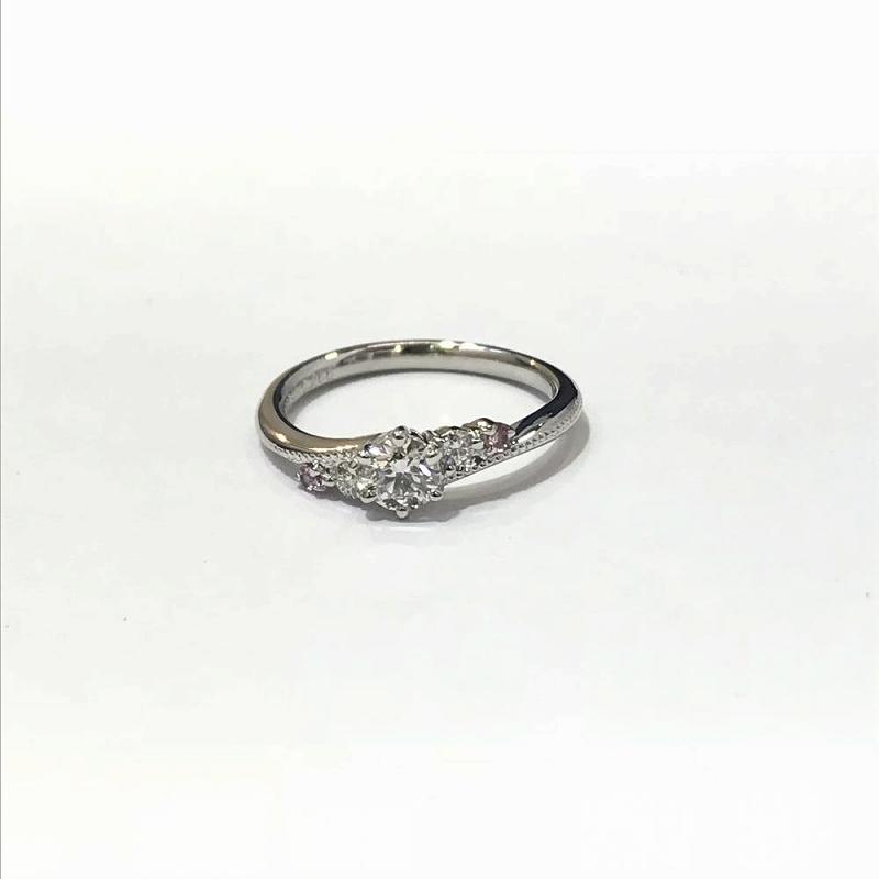 PT900 プラチナ / ダイヤモンド リング 指輪 D0.266ct メレダイヤ0.05ct ソーティング付き 中古 管理EM2443