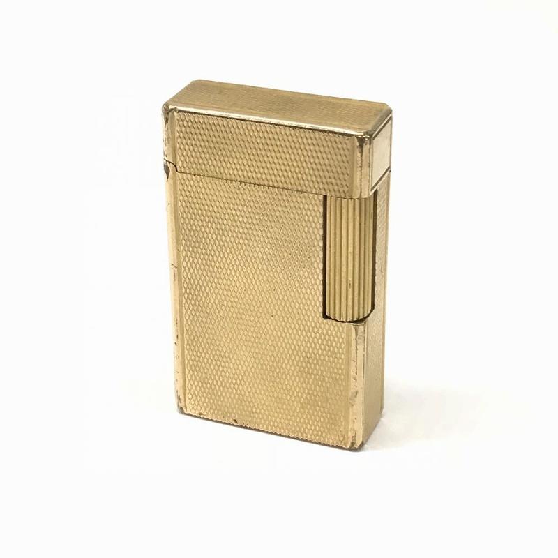 デュポン S.T.Dupont/ ライン1 赤ガス 着火確認OK ガスライター 喫煙具 タバコ ゴールド 管理EM10615