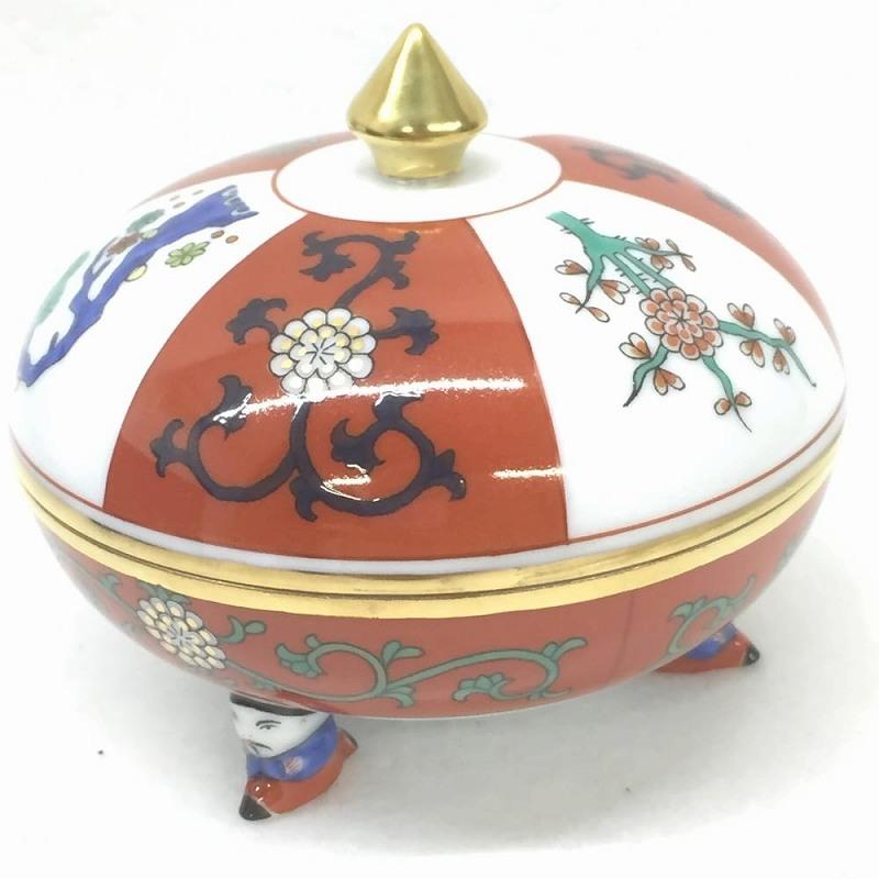 ヘレンド HEREND マンダリンボックス ゲデレ 2002年 限定品 小物入れ 赤 レッド 食器 ブランド G/6022 管理RM10669