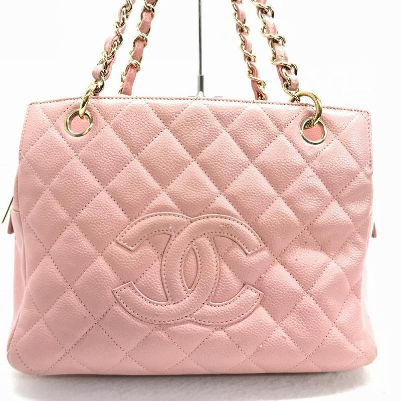 f64ca1af4e05c Kanteikyoku Nagoyanishiki  CHANEL Chanel A18004 matelasse caviar skin chain  tote bag pink lady leather shoulder bag guarantee management YI10936  belonging ...
