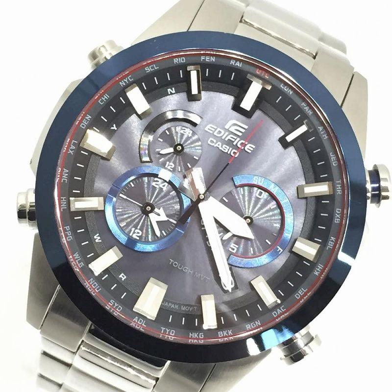 CASIOカシオ エディフィス EQW-T640DB-1A2JF タフソーラー マルチバンド6 クロノグラフ 電波ソーラー メンズクオーツ腕時計 管理YI11080