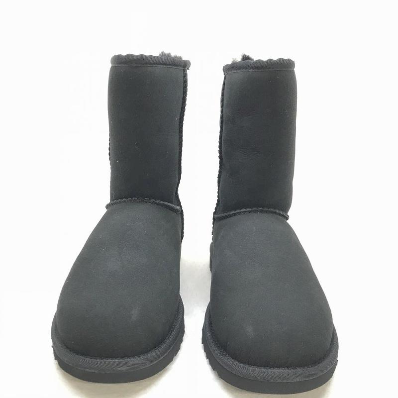 未使用品 UGG アグ クラショック ショートブーツ 5828 ムートンブーツ サイズ 6 23cm ブラック レディース 羊毛 管理HS1140