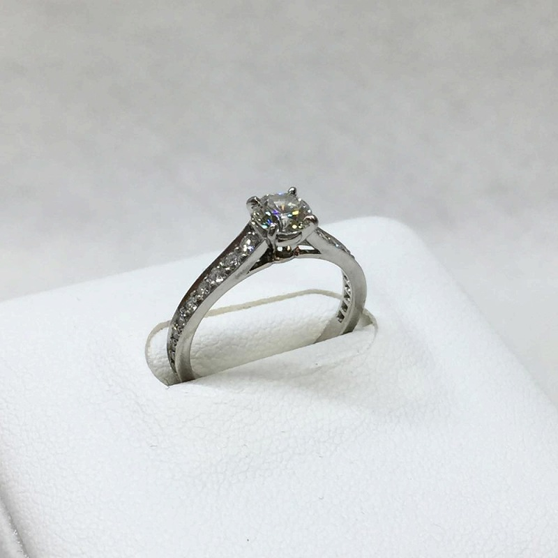 21bcfcb5e564 Used management EM11355 which there are Cartier CARTIER  sled tail ring  engagement ring diamond D0.45ct PT950 platinum size 9   49 in