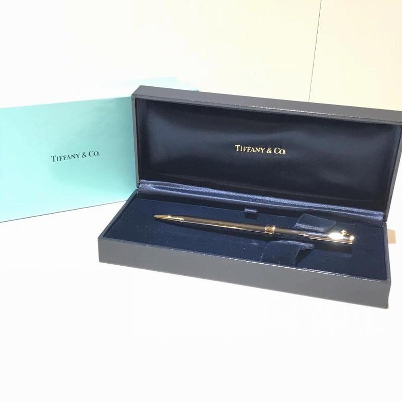 TIFFANY&Co. ティファニー ボールペン 箱付き 中古 シルバー×ゴールド ユニセックス小物 管理RT11333