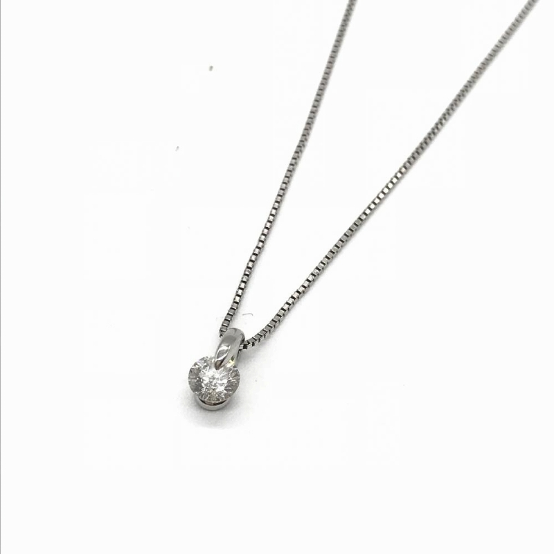 ジュエリー アクセサリー ネックレス チェーン Pt900トップ プラチナ ダイヤモンド D0.305ct 中古 レディース 管理RT13388