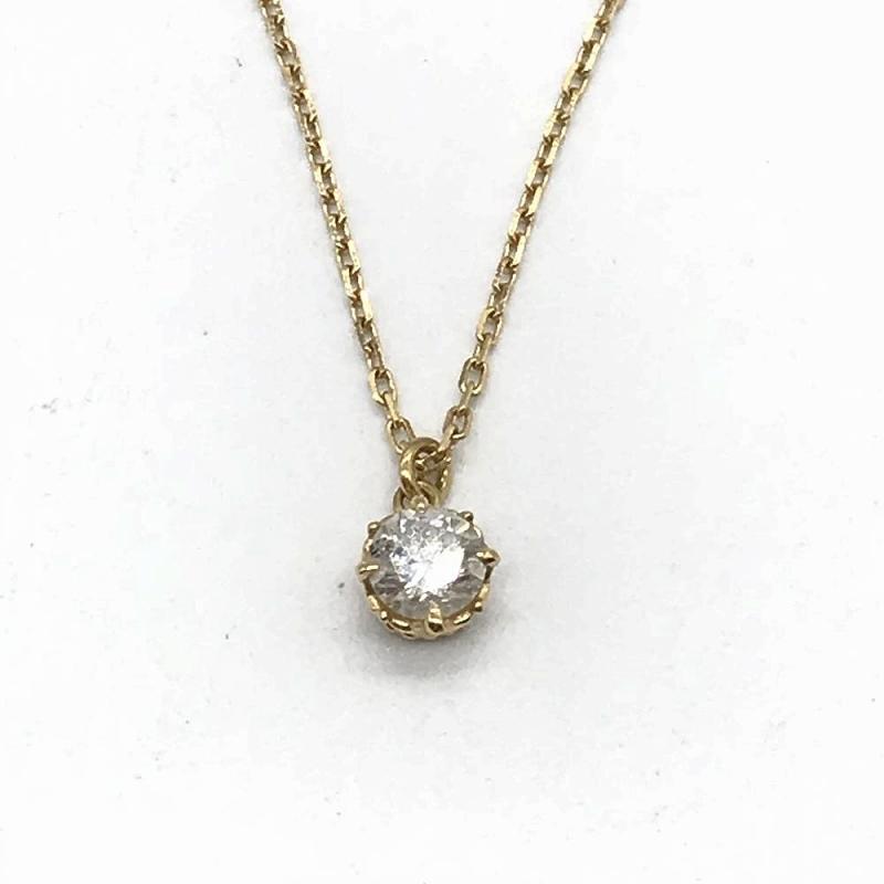ジュエリー アクセサリー ネックレス K18 1 3g ダイヤモンド D0 15 agate アガート レディース管理RT13470nwm0Nv8