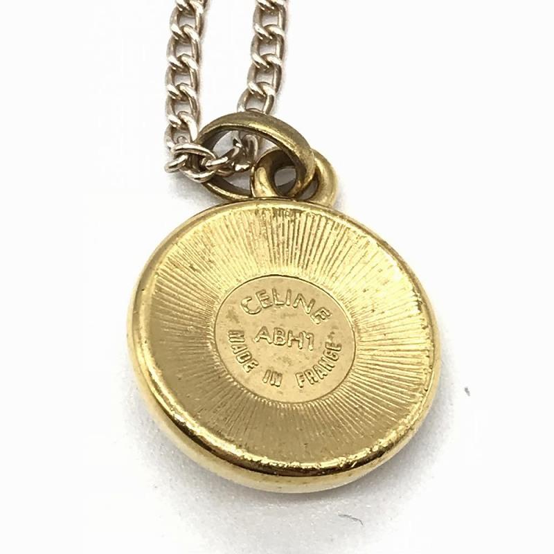 Celine CELINE vintage necklace accessories Lady's fake pearl gold used  management RT13652