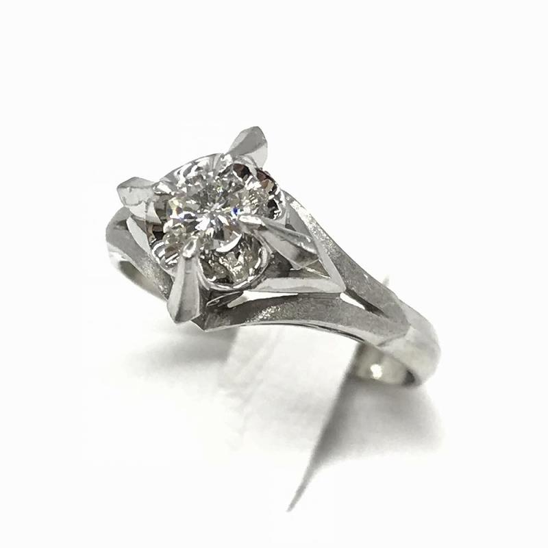 ジュエリー アクセサリー プラチナ ダイヤモンド リング 指輪 4.6 D0.2 レディース 中古 サイズ11.5号 管理RT13911