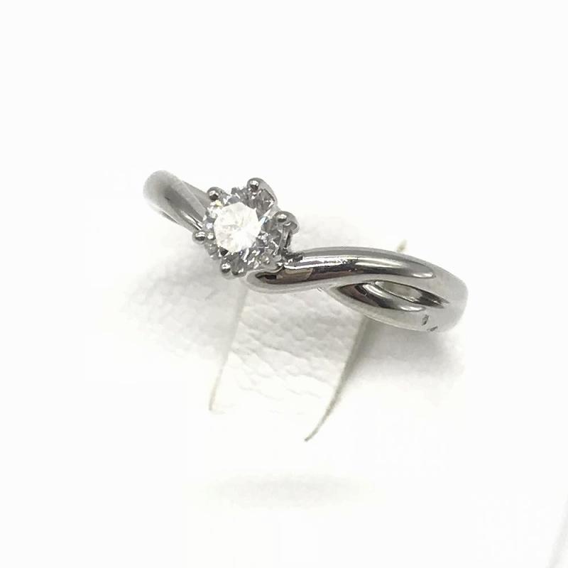 ジュエリー アクセサリー ダイヤモンド プラチナ リング 指輪 pt950 4g D0.344ct サイズ11号 レディース 女性 中古 管理RT13970