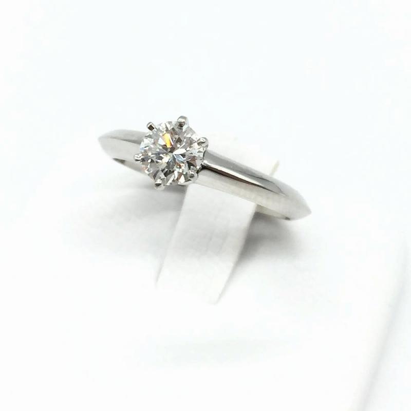 TIFFANY&Co. ティファニー ソリテールリング 0.46ct PT950 G VVS1 GOOD ダイヤモンド 指輪 ブランドジュエリー  管理RM