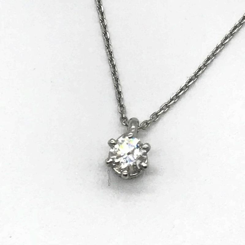 4℃ ヨンドシー ジュエリー ソリティアネックレス レディース アクセサリー ダイヤモンド プラチナ 中古 管理RT13957