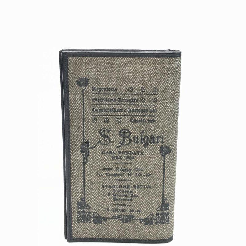 BVLGARI ブルガリ コレツィオーネ 長財布 ファスナー付き小銭入れあり 箱付 ユニセックス 中古 管理MM14063