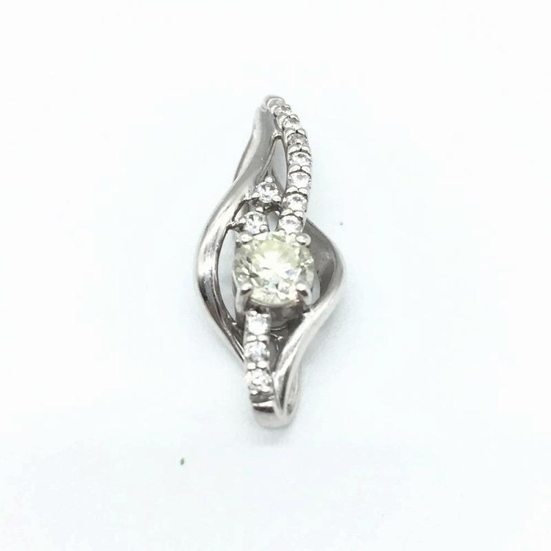 ジュエリー アクセサリー ペンダントトップ プラチナ Pt900 2.3g ダイヤモンド D0.323ct 中古 レディース 管理RT14121