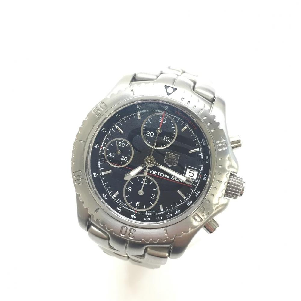 美品 TAG-HEUER タグホイヤー CT2114.BA0550 リンククロノグラフ アイルトン・セナモデル 限定 1991本 腕時計 管理RM13742