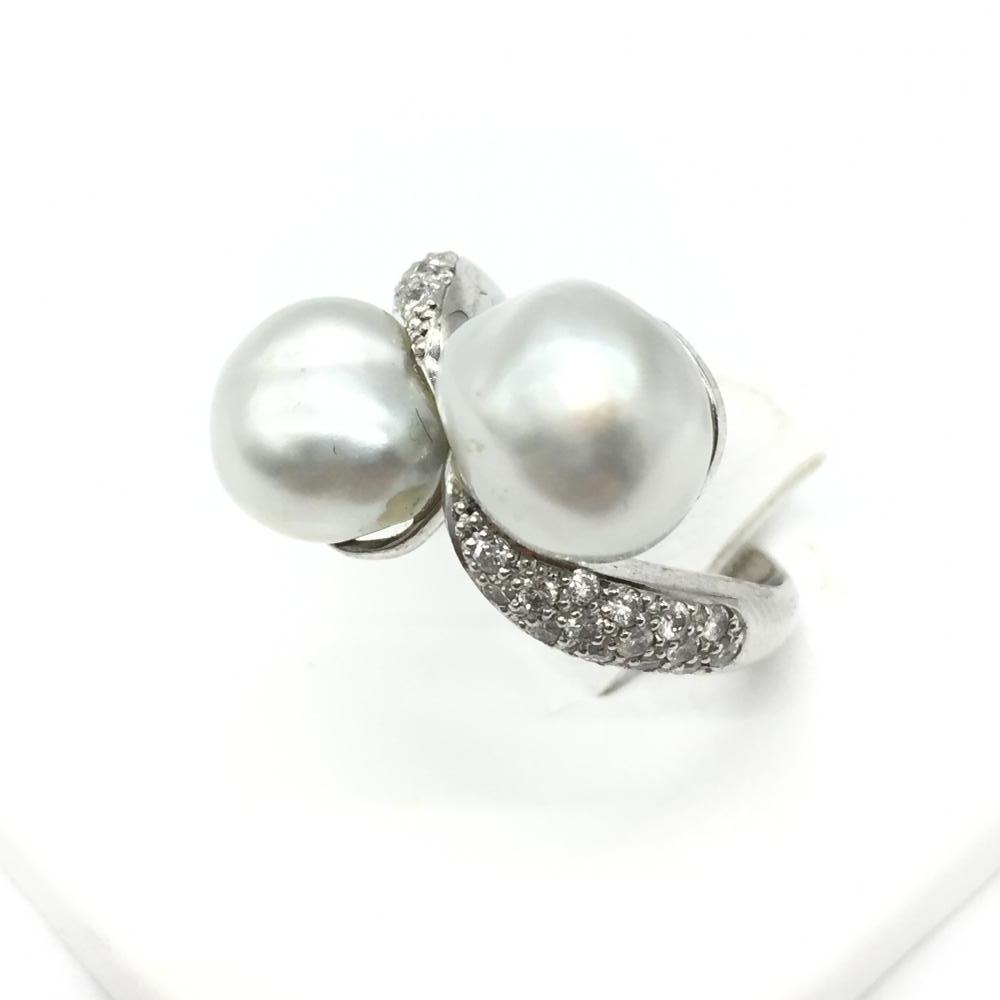 ジュエリー アクセサリー 指輪 リング プラチナ Pt900 10.3g サイズ10号 貴金属 レディース 女性小物 パール 真珠 中古 管理RT14816