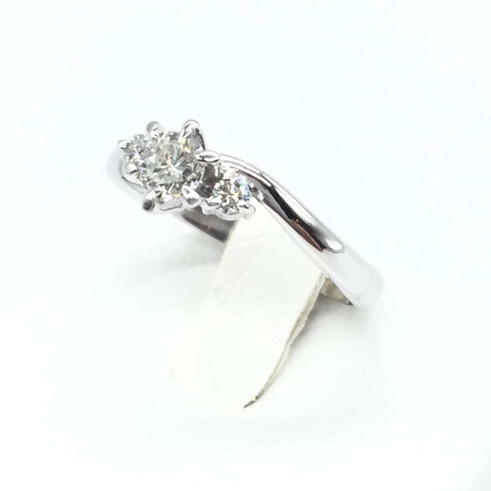 ジュエリー アクセサリー プラチナリング 指輪 Pt900 5.3g ダイヤモンド D0.337ct サイズ10号 鑑定書付き 中古 貴金属 管理RT15290