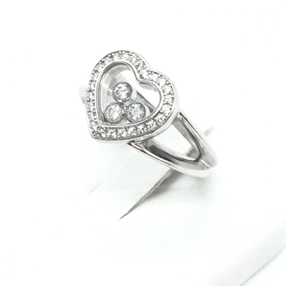 Chopard ショパール リング 指輪 ハッピーダイヤ アクセサリー 貴金属 K18 ホワイトゴールド 8号 中古 レディース 女性 小物 管理RT15313