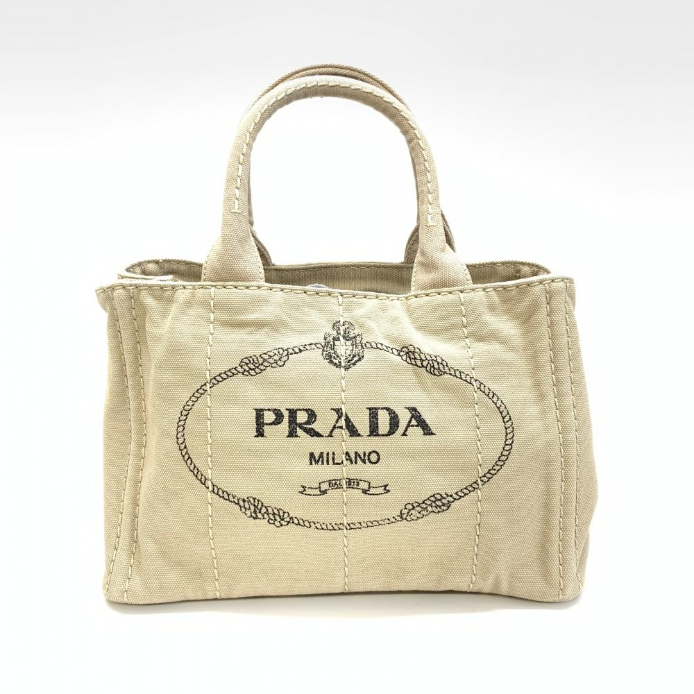 PRADA プラダ 1BG439 カナパ トートバッグ SS ベージュ系 2WAY ショルダーバッグ ハンドバッグ レディース 管理RM15450